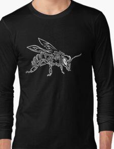 """Bee Spirit"" ver.2 - Surreal abstract tribal bee totem animal Long Sleeve T-Shirt"