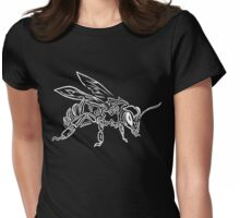 """Bee Spirit"" ver.2 - Surreal abstract tribal bee totem animal Womens Fitted T-Shirt"
