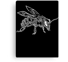 """Bee Spirit"" ver.2 - Surreal abstract tribal bee totem animal Canvas Print"
