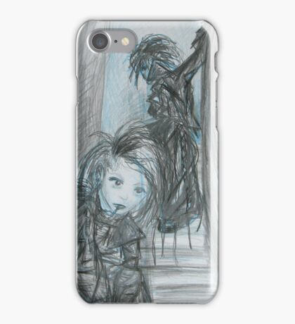 Black  and Blue Stairs iPhone Case/Skin