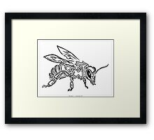 """Bee Spirit"" ver.1 - Surreal abstract tribal bee totem animal Framed Print"