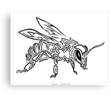 """Bee Spirit"" ver.1 - Surreal abstract tribal bee totem animal Canvas Print"