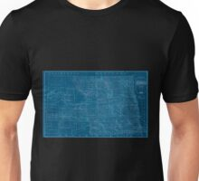 0156 Railroad Maps Sectional map of the state of North Dakota published by authority of the commissioners of railroads under the direction of the governor drawn and compiled Inverted Unisex T-Shirt