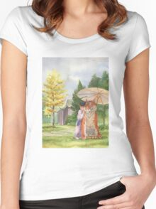 Little Shifu and Tiger Women's Fitted Scoop T-Shirt