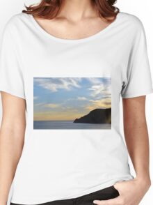 Sunset at the sea in Vernazza. Women's Relaxed Fit T-Shirt