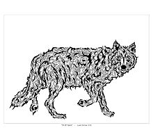 """Wolf Spirit"" - surreal tribal totem animal Photographic Print"