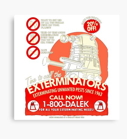 Dalek Exterminators Canvas Print