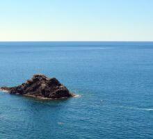 The sea and rocks Sticker