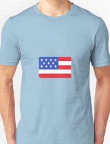 Flat designed American like flag Unisex T-Shirt