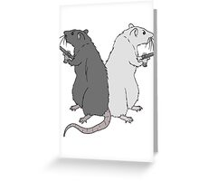 Rats with Gats Greeting Card