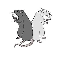 Rats with Gats Photographic Print