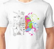 Analytical and Creative Brain Unisex T-Shirt