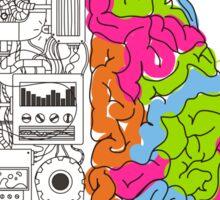 Analytical and Creative Brain Sticker