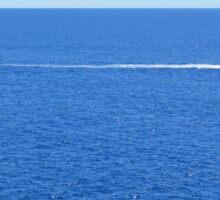 Sailing ships in the blue water of Portofino Sticker