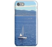 Sailing ships in the blue water of Portofino iPhone Case/Skin