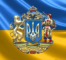 Ukraine: Proposed Greater Coat of Arms & Flag by Captain7
