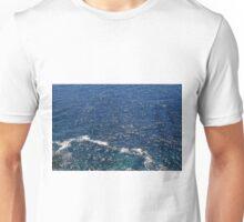 Texture with deep blue sea. Unisex T-Shirt
