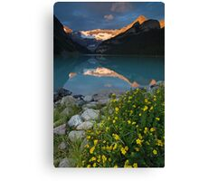 Lake Louise at sunrise Canvas Print