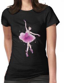 Watercolor ballet dancer Womens Fitted T-Shirt