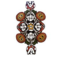 Super Mario Bros. Mandala Photographic Print