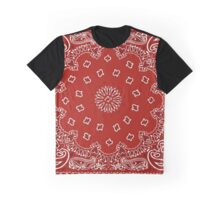 Bandana Print - Red  Graphic T-Shirt