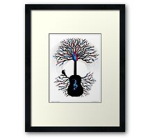 Rhythms of the Heart ~ Surreal Guitar Framed Print