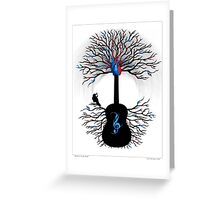 Rhythms of the Heart ~ Surreal Guitar Greeting Card