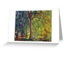 Claude Monet - Weeping Willow (1918–19)  Greeting Card