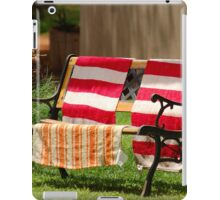 NO BENCH SITTING TODAY! iPad Case/Skin