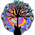 """Psychedelic Sonic Cyclone""   ( surreal guitar tree art) by Leah McNeir"