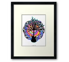 """Psychedelic Sonic Cyclone""   ( surreal guitar tree art) Framed Print"