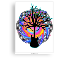 """""""Psychedelic Sonic Cyclone""""   ( surreal guitar tree art) Canvas Print"""