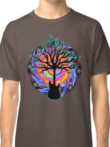 """""""Psychedelic Sonic Cyclone""""   ( surreal guitar tree art) Classic T-Shirt"""