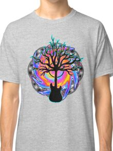 """Psychedelic Sonic Cyclone""   ( surreal guitar tree art) Classic T-Shirt"