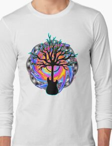 """""""Psychedelic Sonic Cyclone""""   ( surreal guitar tree art) Long Sleeve T-Shirt"""