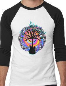 """Psychedelic Sonic Cyclone""   ( surreal guitar tree art) Men's Baseball ¾ T-Shirt"