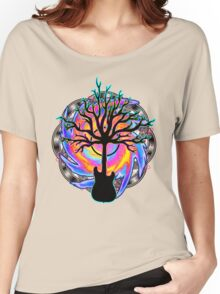 """""""Psychedelic Sonic Cyclone""""   ( surreal guitar tree art) Women's Relaxed Fit T-Shirt"""