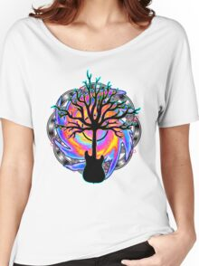 """Psychedelic Sonic Cyclone""   ( surreal guitar tree art) Women's Relaxed Fit T-Shirt"