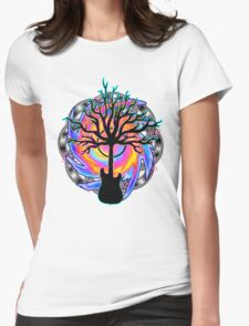 """""""Psychedelic Sonic Cyclone""""   ( surreal guitar tree art) Womens T-Shirt"""