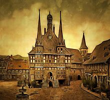 The Town Hall, Wernigerode, Hartz, Germany 1890 by Dennis Melling