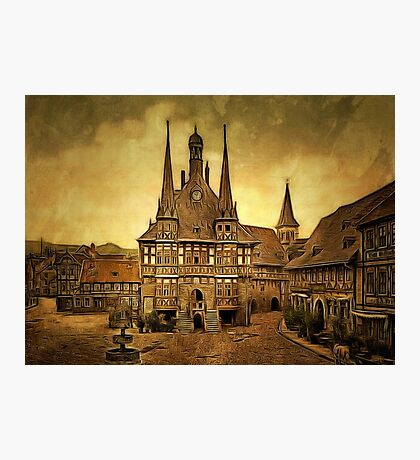 The Town Hall, Wernigerode, Hartz, Germany 1890 Photographic Print