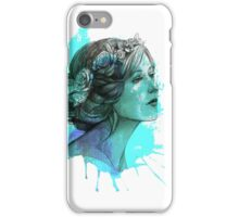 Woman with floral wreath in watercolor iPhone Case/Skin