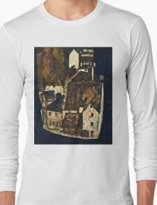Egon Schiele - Dead City III (City on the Blue River III) (1911)  Long Sleeve T-Shirt