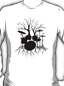 """Live the Beat to the Tempo of Creation"" ~ drum tree art, version2 T-Shirt"
