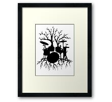 """Live the Beat to the Tempo of Creation"" ~ drum tree art, version2 Framed Print"