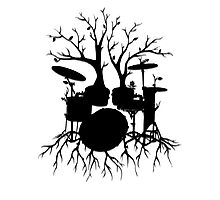 """Live the Beat to the Tempo of Creation"" ~ drum tree art, version2 Photographic Print"