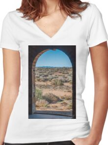 Outback Doorway Women's Fitted V-Neck T-Shirt