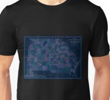 0104 Railroad Maps Map of Georgia Alabama exhibiting the post offices post roads canals rail roads c by David H Burr Late topographer to the Post Office Geographer to the Inverted Unisex T-Shirt