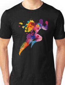 Watercolor running man Unisex T-Shirt