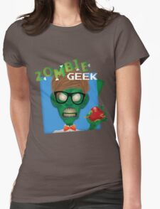 Zombie Geek Womens Fitted T-Shirt